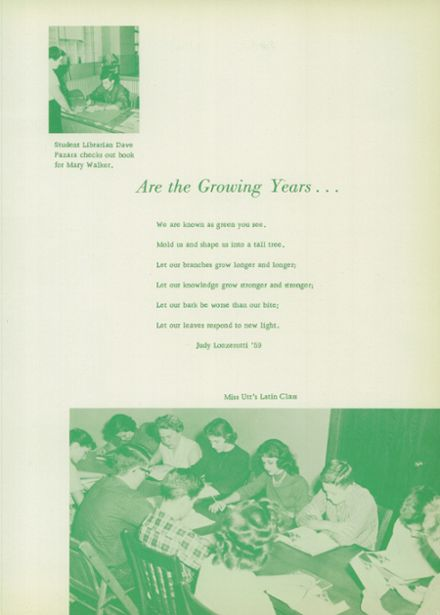 1959 Gillespie Community High School Yearbook Page 7