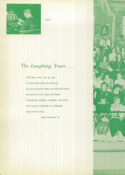 1959 Gillespie Community High School Yearbook Page 8