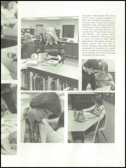 1977 Sprayberry High School Yearbook Page 9