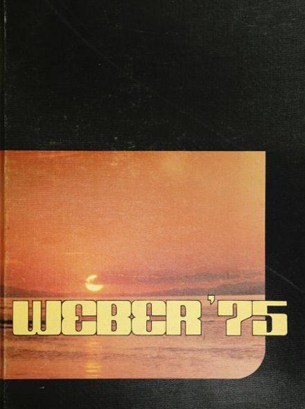 1975 Weber High School Yearbook Cover