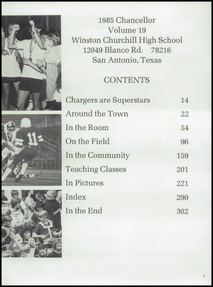 1985 Churchill High School Yearbook Page 7