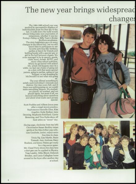 1985 Churchill High School Yearbook Page 8