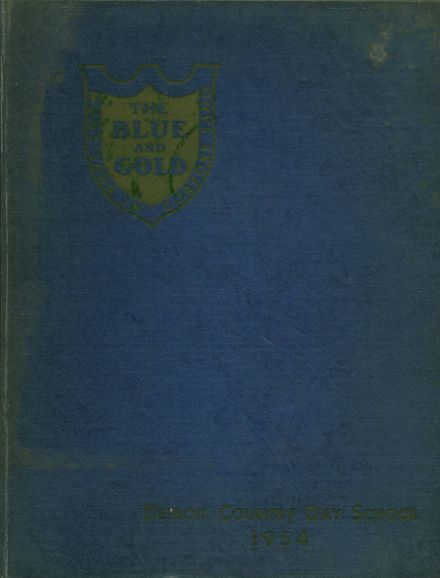 1954 Detroit Country Day School Yearbook Cover
