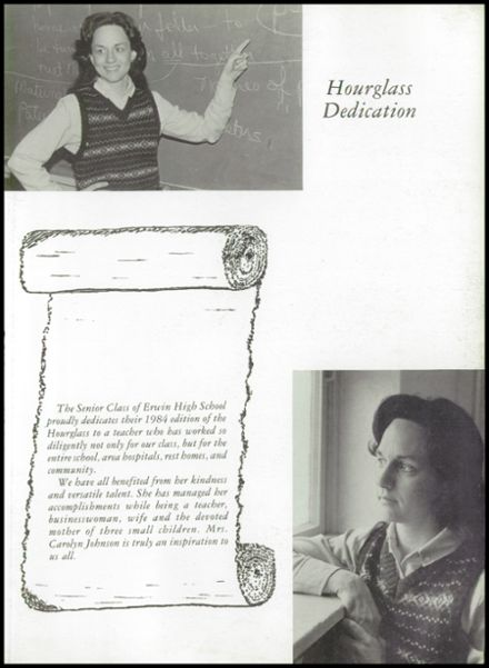 1984 Erwin High School Yearbook Page 7