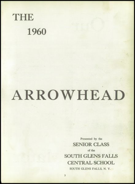 1960 South Glens Falls High School Yearbook Page 7