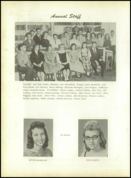 1960 Pineland High School Yearbook Page 6