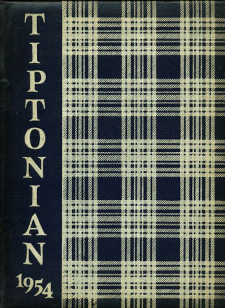 1954 Tipton High School Yearbook Cover