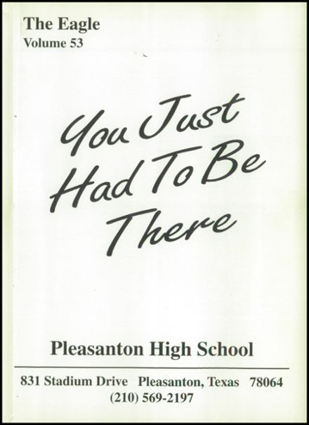1996 Pleasanton High School Yearbook Page 5