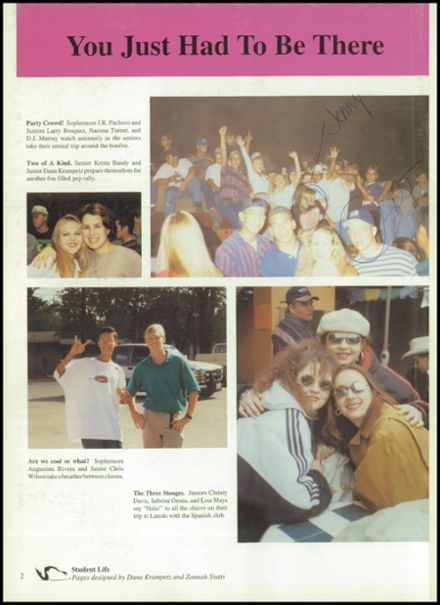 1996 Pleasanton High School Yearbook Page 6