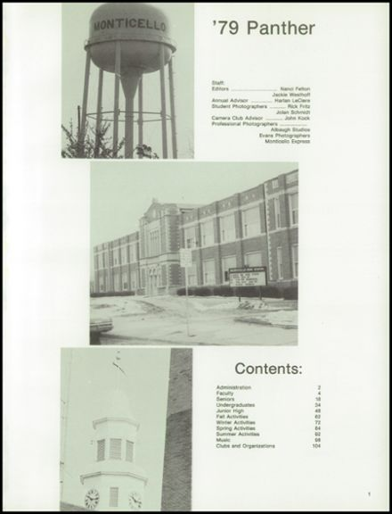 1979 Monticello High School Yearbook Page 5