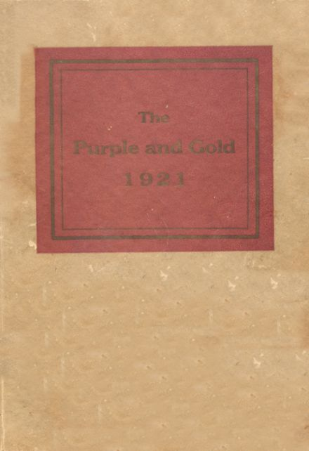 1921 Franklin-Simpson High School Yearbook Cover