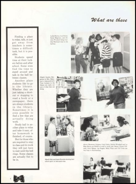 1992 Quanah High School Yearbook Page 8