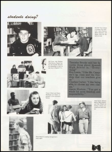 1992 Quanah High School Yearbook Page 9