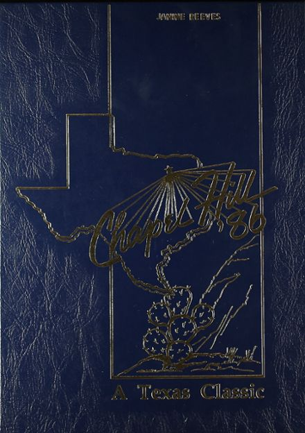 1986 Chapel Hill High School Yearbook Cover