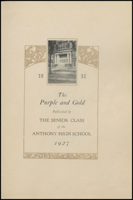 1927 Anthony High School Yearbook Page 7