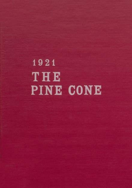 1921 Pine Bluff High School Yearbook Cover