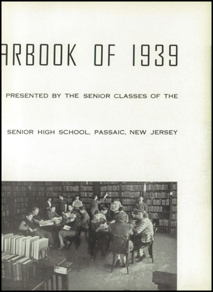 1939 Passaic High School Yearbook Page 7