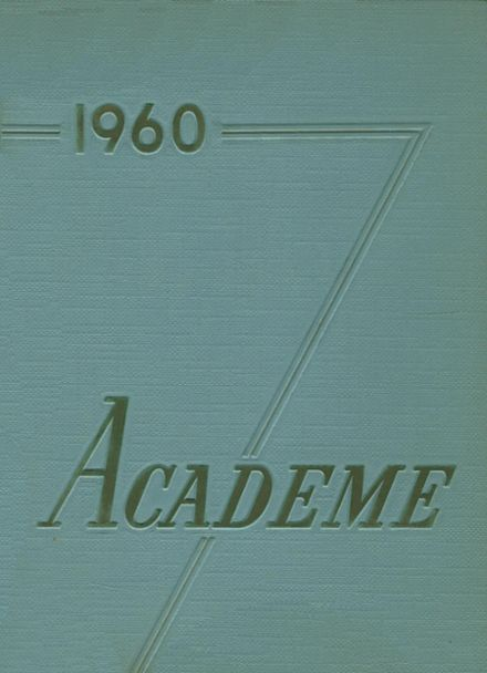 1960 Academy High School Yearbook Cover