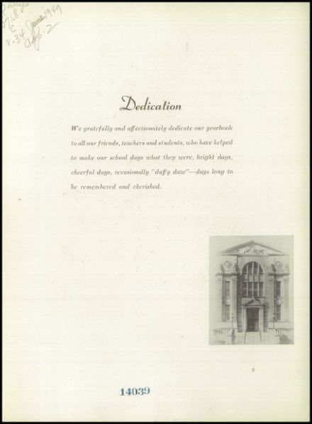 1949 Grover Cleveland High School Yearbook Page 7