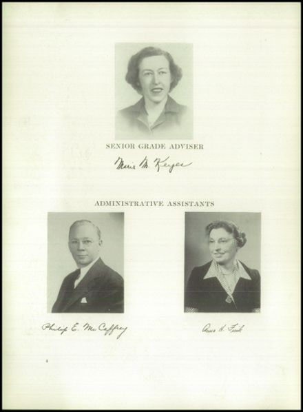 1949 Grover Cleveland High School Yearbook Page 8