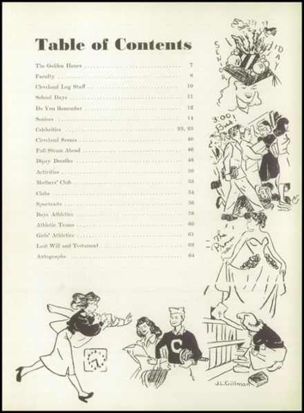 1949 Grover Cleveland High School Yearbook Page 9