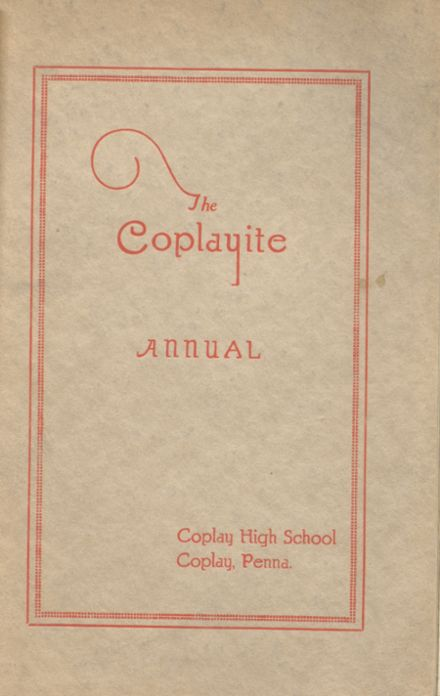 1924 Coplay High School Yearbook Cover