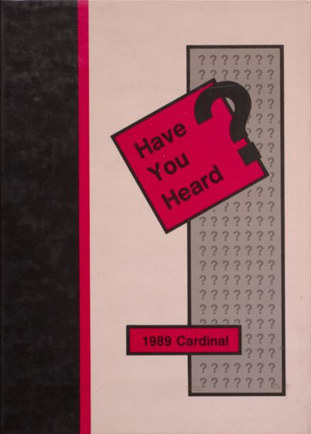 1989 Taylor County High School Yearbook Cover