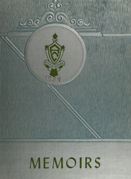 1954 Ravena-Coeymans-Selkirk High School Yearbook Cover