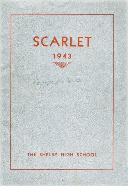 1943 Shelby High School Yearbook Cover