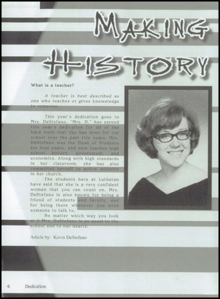 2005 Lutheran High School Yearbook Page 8