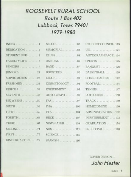 1981 Roosevelt High School Yearbook Page 5