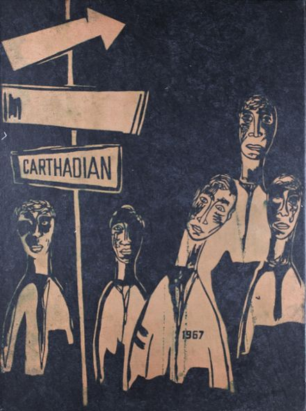 1967 Carthage High School Yearbook Cover