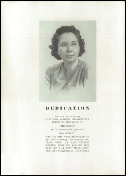 1945 Hartland Academy Yearbook Page 4