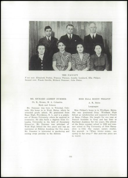 1945 Hartland Academy Yearbook Page 6