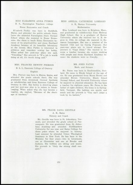 1945 Hartland Academy Yearbook Page 7