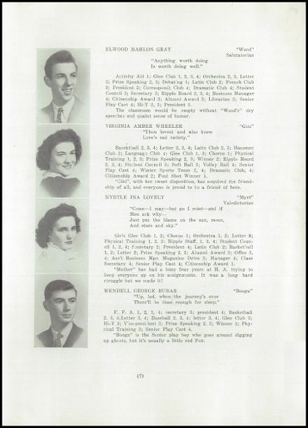 1945 Hartland Academy Yearbook Page 9