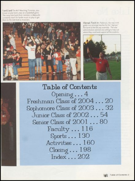 2001 Marysville-Pilchuck High School Yearbook Page 7