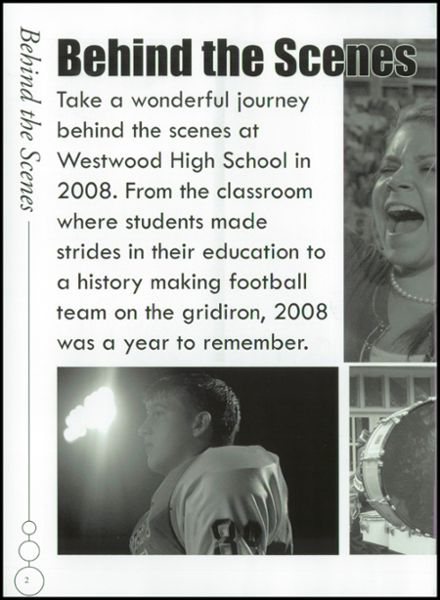 2008 Westwood High School Yearbook Page 6