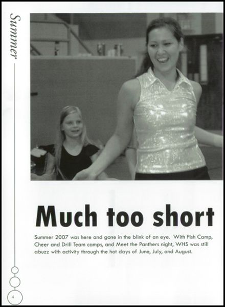 2008 Westwood High School Yearbook Page 8