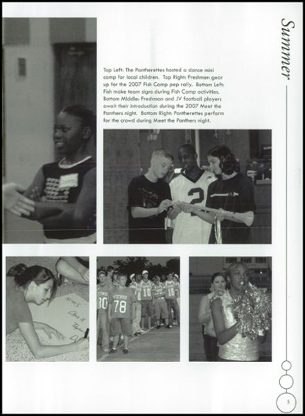2008 Westwood High School Yearbook Page 9