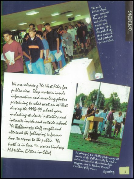 1999 Belleville Township West High School Yearbook Page 7