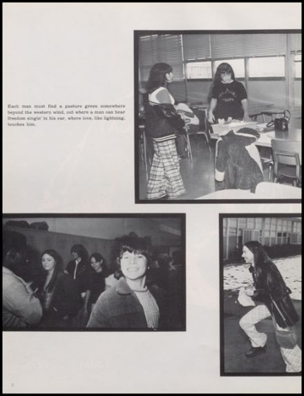 1975 Carnegie High School Yearbook Page 6