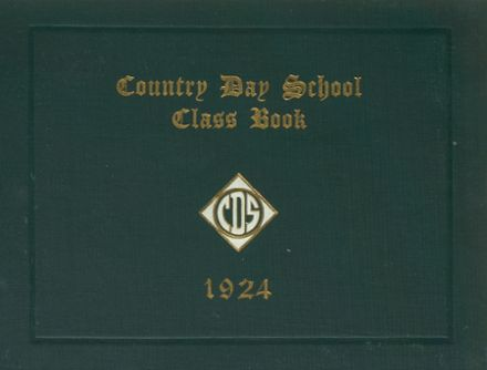 1924 Newton Country Day Yearbook Cover