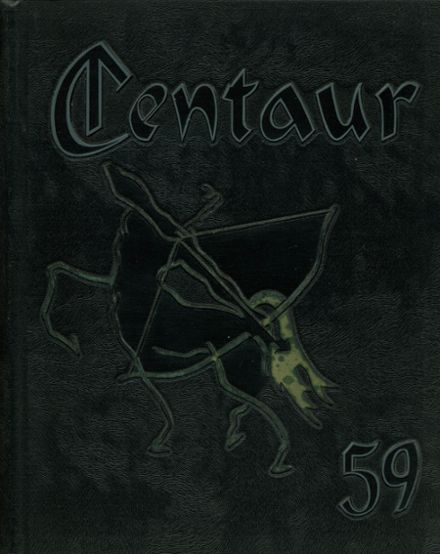 1959 Crawford High School Yearbook Cover