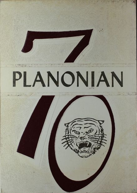 1970 Plano High School Yearbook Cover