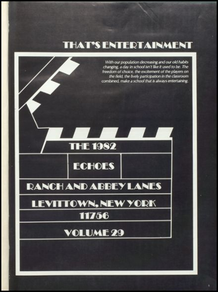 1982 Levittown Memorial High School Yearbook Page 5