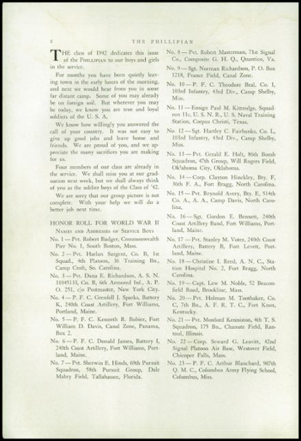 1942 Phillips High School Yearbook Page 4