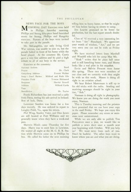 1942 Phillips High School Yearbook Page 6