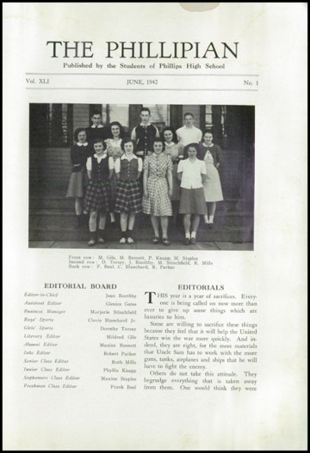 1942 Phillips High School Yearbook Page 7