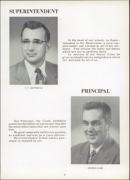 1954 Ridgeville High School Yearbook Page 9